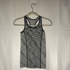 Tops - Black and white athletic tank top